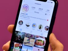 The home page of social media site Instagram on a smartphone (Nick Ansell/PA)