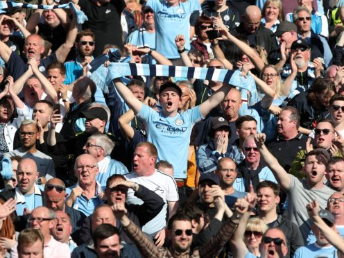 Manchester City fans have ridden a roller coaster to reach the Champions League final (Nick Potts/PA)