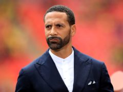 Rio Ferdinand was working as a pundit at Wolves v Manchester United (Mike Egerton/PA)