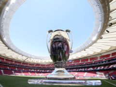 The Champions League trophy (Alexander Hassenstein/UEFA via Getty Images/PA)