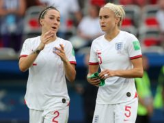 England's Lucy Bronze (left) and Steph Houghton (right) have been selected for their second Olympic Games (Richard Sellers/PA)