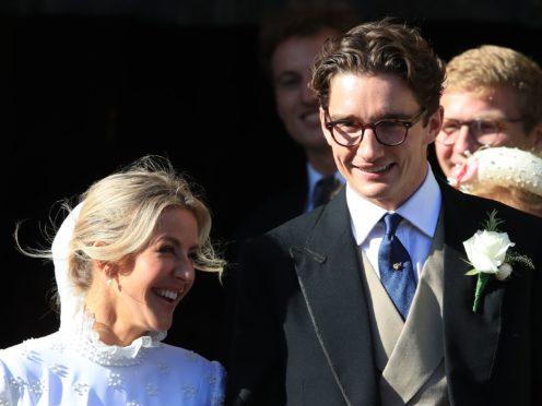 Ellie Goulding and Caspar Jopling (Peter Byrne/PA)