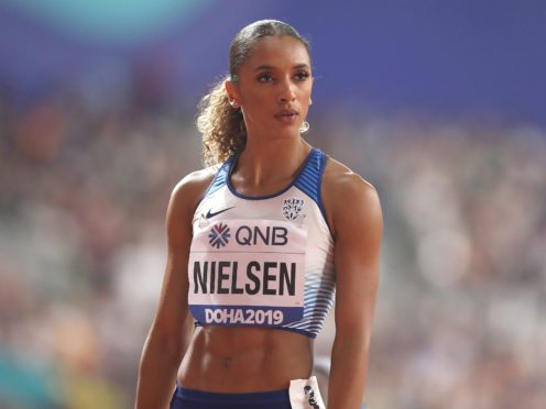 Laviai Nielsen believes the 'stars aligned' as she moved from being Jessica Ennis-Hill's volunteer bag carrier at London 2012 to preparing to compete in Tokyo (Martin Rickett/PA)