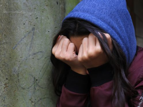 Concerns have been raised about increased rates of self harm among children and young people (PA)