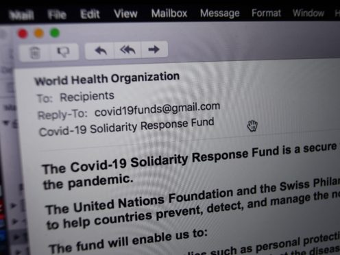 Phishing attacks using Covid-19 and fake vaccine shops show 'criminals have no bounds', NCSC expert warned (Yui Mok/PA)