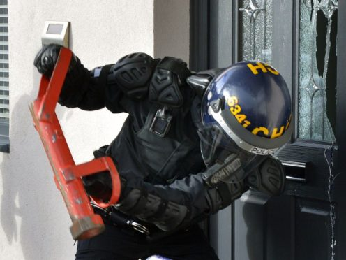 More than 1,000 people have been arrested and 292 weapons seized as part of a national crackdown on county lines drug dealing gangs.(West Midlands Police/PA)