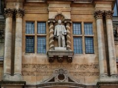 The statue of Cecil Rhodes at Oriel College, University of Oxford (Steve Parsons/PA)
