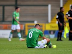 Yeovil's Luke Wilkinson was sent off after having a goal disallowed (Ben Birchall/PA)
