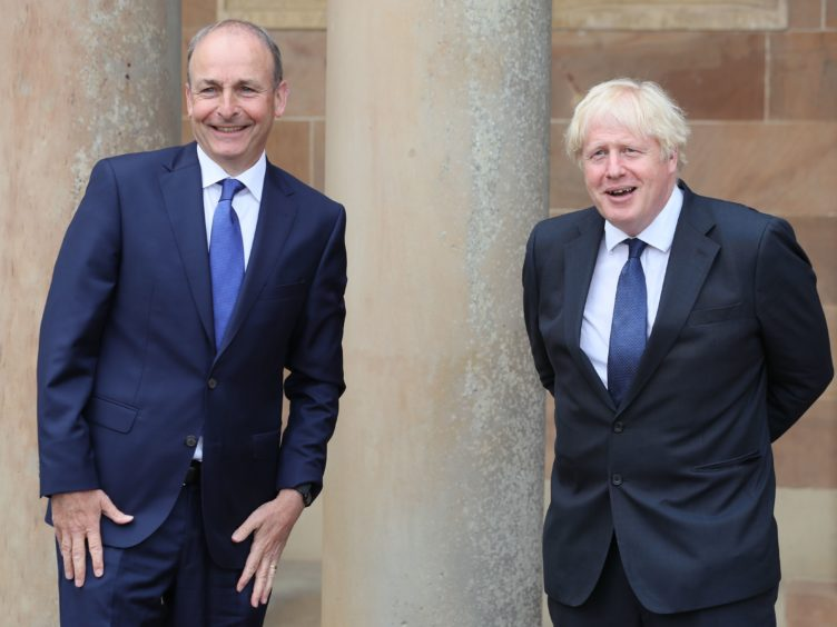 Prime Minister Boris Johnson and Taoiseach Micheal Martin will hold talks (Brian Lawless/PA)