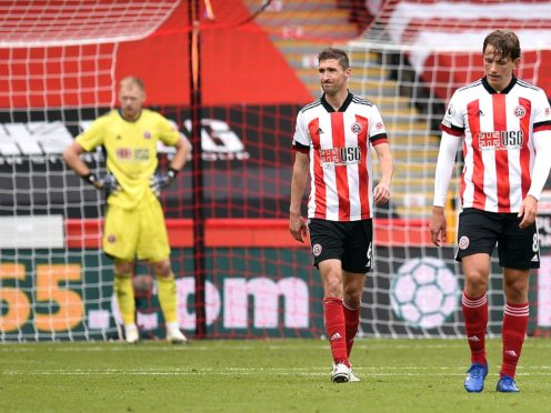 Sheffield United's Chris Basham, left, and Sander Berge, right, could play against Crystal Palace (PA)