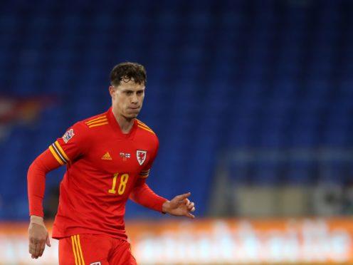 Wales' James Lawrence battles for the ball (Nick Potts/PA)