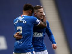 Rangers' Ryan Kent (right) and skipper James Tavernier are among the nominees for this season's PFA Scotland player of the year award (Andrew Milligan/PA)