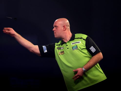 Michael van Gerwen moved back to the top of the Premier League (Steven Paston/PA)