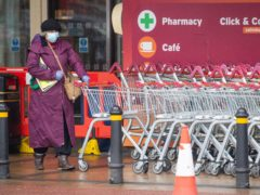 Supermarket sales have fallen compared with a year ago (Dominic Lipinski/PA)