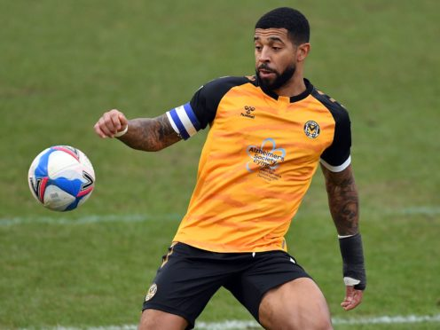 Newport's Joss Labadie is fit to face Forest Green despite suffering a nasty gash to his leg (Simon Galloway/PA)