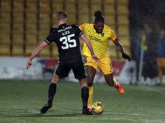 Jay Emmanuel-Thomas (right) is moving from Livingston to Aberdeen (Andrew Milligan/PA)