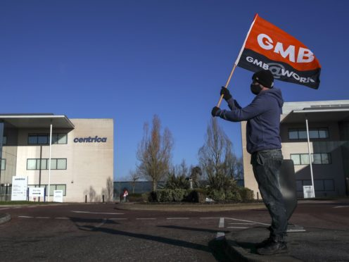The GMB union says new terms cut pay by 15% for some British Gas workers (Steve Parsons/PA)