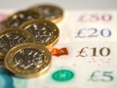 Pound coins and notes. The District Councils' Network has urged the Government not to remove support too quickly (Dominic Lipinski/PA)