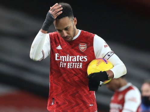 Arsenal's Pierre-Emerick Aubameyang has had struggles on and off the pitch this season. (Adam Davy/PA)