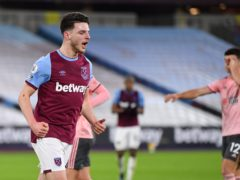 Declan Rice is battling to be fit for the run-in (Justin Setterfield/PA)