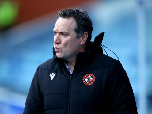 Micky Mellon is heading for the Tannadice exit (Jane Barlow/PA)