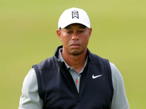 Tiger Woods suffered major injuries following a crash in Los Angeles in February (Richard Sellers/PA)