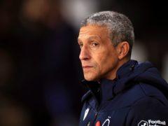 Chris Hughton felt both Preston goals should have been ruled out (Mike Egerton/PA)