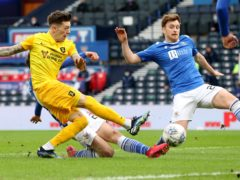 Josh Mullin, left, is aiming to get one over St Johnstone (Jeff Holmes/PA)