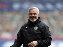 Time to take the final step says St Mirren manager Jim Goodwin (Jane Barlow/PA)