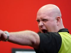 Michael van Gerwen moved to the top of the Premier League (Zac Goodwin/PA)