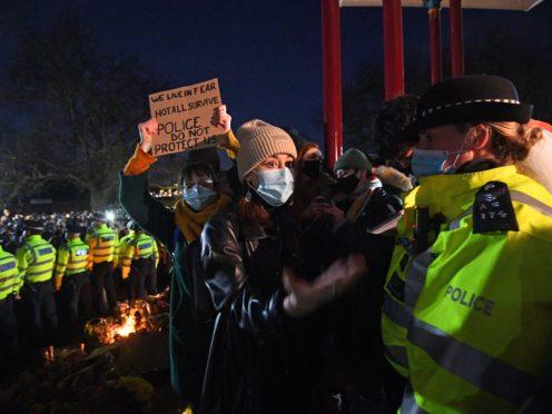 Dame Cressida Dick said she considered using an all-female unit at the vigil (Victoria Jones/PA)