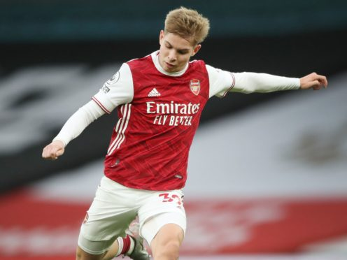 Emile Smith Rowe scored his first Premier League goal in Arsenal's win over West Brom (Nick Potts/PA)