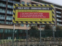 Signage at Beacon Hospital in Dublin (Brian Lawless/PA)
