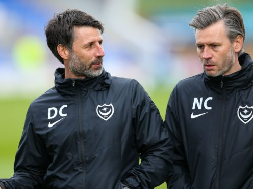 Danny Cowley (left) and brother Nicky have agreed long-term deals to stay on as head coach and assistant at Portsmouth (Barrington Coombs/PA)