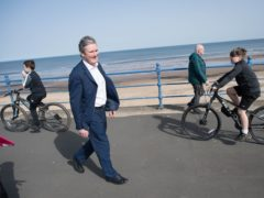 Labour Party leader Sir Keir Starmer meets people in Seaton Carew in County Durham (Stefan Rousseau/PA)