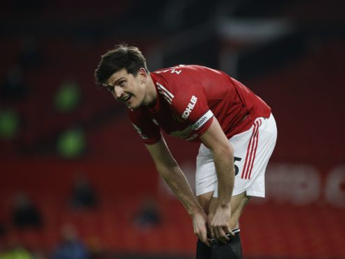 Manchester United's Harry Maguire has played over 70 per cent of his minutes without a five-day rest period in between, new data from FIFPRO shows (Phil Noble/PA)