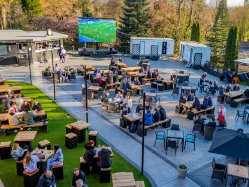 Allerton Manor golf course's new outdoor 250 seater beer garden (Peter Byrne/PA)