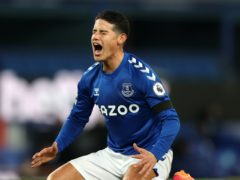 """Everton playmaker James Rodriguez says Colombia's decision to drop him because of fitness issues has caused """"enormous pain"""" (Clive Brunskill/PA)"""