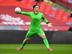 Kepa Arrizabalaga, pictured, will start the FA Cup final for Chelsea on Saturday (Ben Stansall/PA)