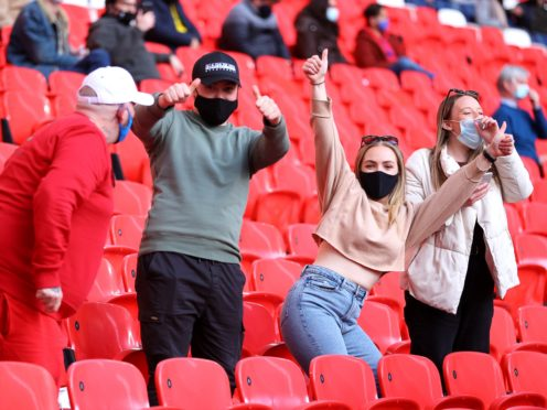 Fans will be able to return to sporting venues from next Monday (Richard Heathcote/PA)