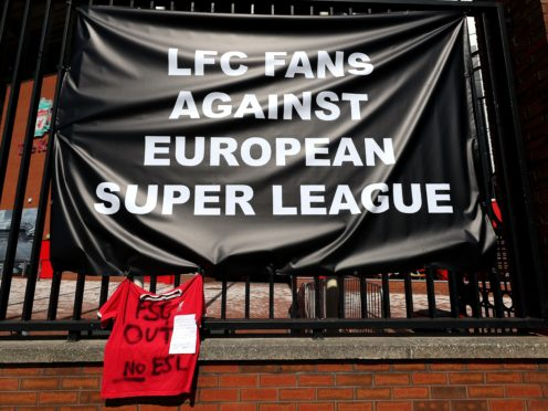 Fans' group Spirit of Shankly will meet Liverpool officials for a second time this week (Peter Byrne/PA)