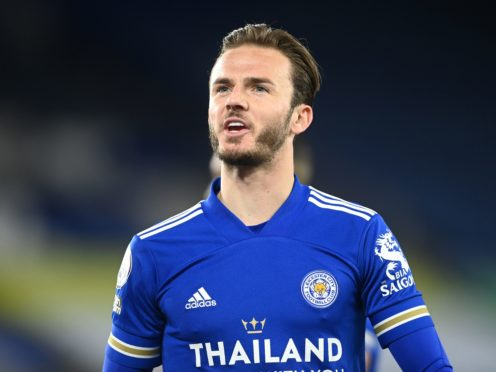 James Maddison continues to rebuild his fitness as Leicester's season reaches a tense climax (Michael Regan/PA)