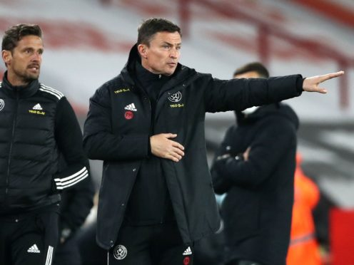 Paul Heckingbottom wants Sheffield United to keep fighting despite their relegation (Tim Goode/PA)