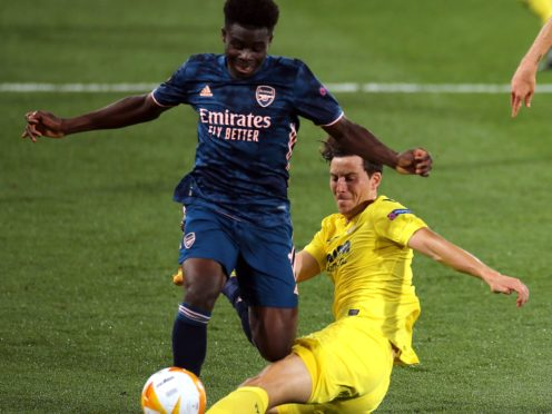 Villarreal's Pau Torres, right, is fully focused on Wednesday night's final (Isabel Infantes/PA)