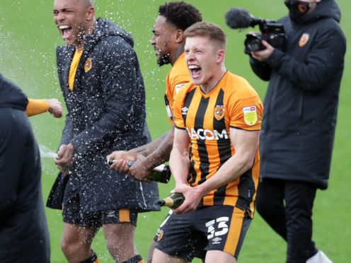 Greg Docherty (right) has led Hull to League One glory (Richard Sellers/PA)