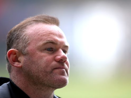 Wayne Rooney has challenged his Derby team to rise to the task of ensuring survival (Nick Potts/PA)