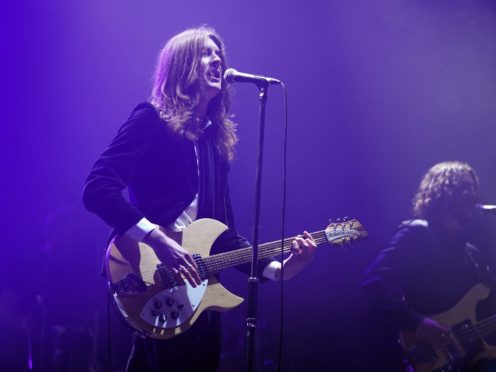 The Blossoms performing on stage at a music festival in Sefton Park (Danny Lawson/PA)