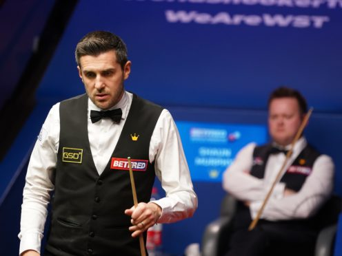 Mark Selby fashioned an overnight lead over Shaun Murphy (Zac Goodwin/PA)