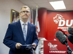 Sir Jeffrey Donaldson reportedly claimed loyalist group the UDA had threatened members of his team (Liam McBurney/PA)