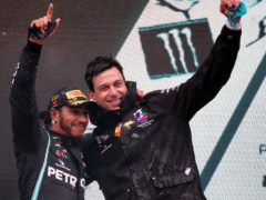 Toto Wolff (right) believes Lewis Hamilton can race beyond his 40th birthday (PA Wire)